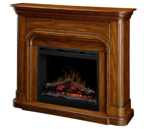 Dimplex DFP26-1339BW Dawson 45.7-Inch Tall by 52.5-Inch Wide Electric Fireplace Mantel, Burnished Walnut (Tall Fireplace compare prices)