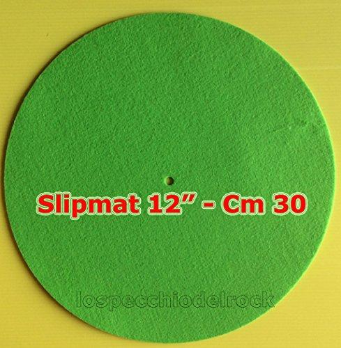 Panno-Tappetino-Slipmat-Mat-per-Giradischi-Colore-Verde