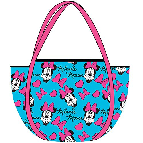 Disney Classic Minnie Mouse HEADS & BOWS Mesh Tote Bag - Teal Pink