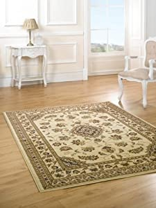 Very Large Quality Traditional Beige Rug carpet 240 x 330 cm (8' x 11') Sherborne by Lord of Rugs