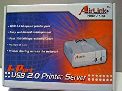 AirLink + Networking - 1-Port USB 2.0 Printer Server APSUSB201