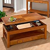 Jofran 480-1 Sedona Oak Lift-Top Cocktail Table