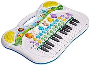 Simba 104015670 - Play and Learn Tier-Keyboard, 28 x 39 cm, verschiedene Sounds