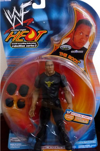 the ROCK WWE WWF Sunday Night Heat Rebellion Series 2 Figure
