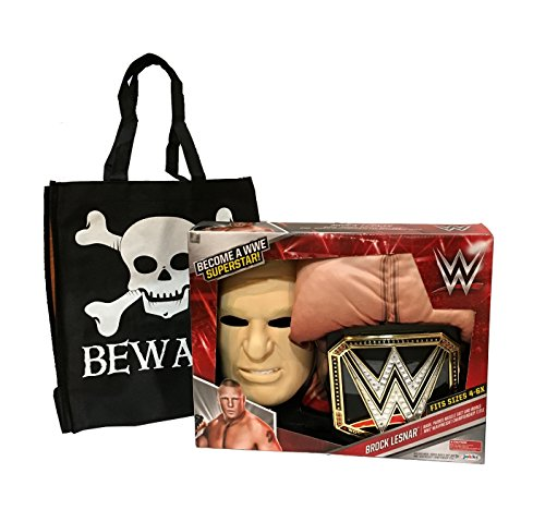 [WWE Deluxe Wrestler Costumes with Trick-or-Treat Bag (BROCK LESNAR & Championship Title Belt)] (Wwe Girl Costumes)