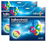 30 pack of Colour Changing LED Light Up Balloominate Balloons. Great for Parties and Celebrations.