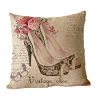 ilkin Decorative ilkin custom Vintage Style Cushion Cover 100% cotton blend linen Square pillow case - pillow covers for sofa by ilkin