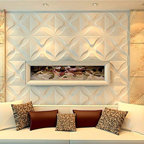 yazi-Planches-3D-Effet-3D-mur-papier-peint-panneau-Reconditionn-Relief-pour-salon-Trfle-Store-TV-Fond-Blanc-300-x-300-mm