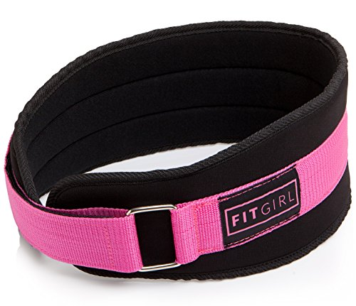 FITGIRL - Pink Weight Lifting Belt - Gym, Fitness, Crossfit, Bodybuilding - Great for Squats, Lunges, Deadlift, Thrusters (S)