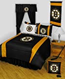 NHL Boston Bruins 5 Pc Full Bedding Set Comforter and Sheets