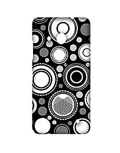 Garmor Black Circle Designer Plastic Back Cover For Microsoft Lumia 550