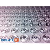 "Specialty Soft Clear 1/2"" (12.7mm) Dia x 0.20"" (5.1mm) H Round Sound Deadening Cabinet and Furniture Bumpers - 50 Pack"