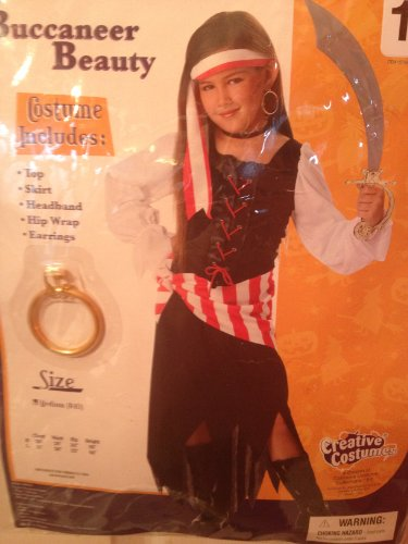 Girls Buccaneer Beauty Costume 8-10