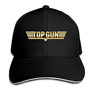 KMRR Top Gun Gold Logo Flex Baseball Cap Black