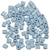 Hama Midi beads, D: 5 mm, H: 5 mm, 6000 pcs, light grey