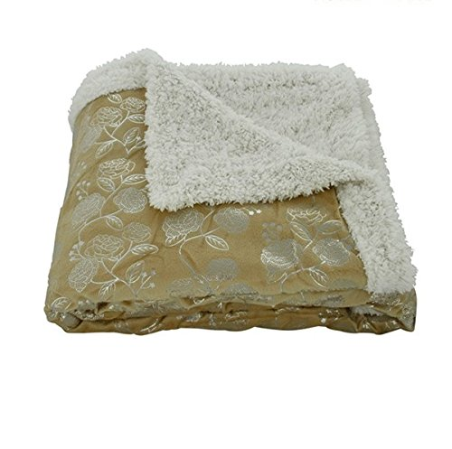 Gold Throw Blanket front-1060405