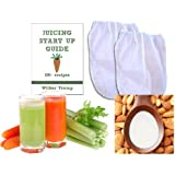 "2 Fine Mesh Nut Milk Jelly Strainer Bags (1 gal) XL Extra Large + Juicing and Sprouting eBook ""Juicing Start Up Guide"""