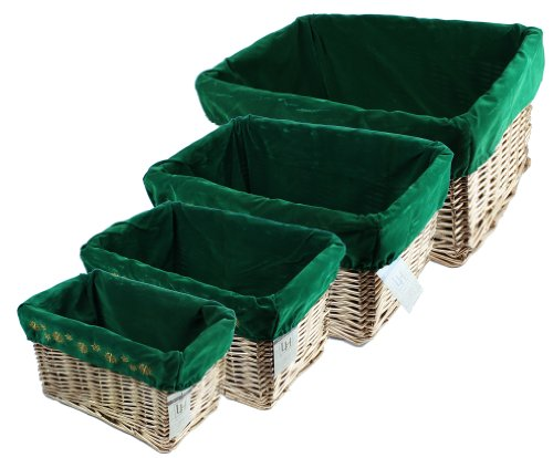 Gold Willow Basket Set with Liners by Lukasian House, colors may vary (Lukasian House Storage Basket compare prices)