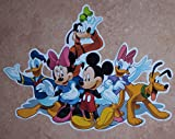 Disney Mural FATHED Mickey Mouse, Donald Duck, Minnie, Daisy Duck, Pluto Official Vinyl Wall Graphic 10x7