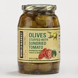 World Market? Sun Dried Tomato Stuffed Olives 14oz