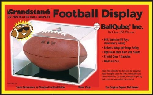 Grandstand Full Size Football Cube Display Holder - 98% UV Protection (Football Qube compare prices)