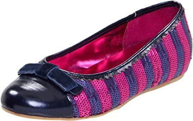 Juicy Couture Matilda Kid,Bright Berry/Nautical Navy Striped,11 M US Little Kid