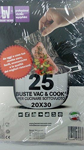 Buste Sacchetti Vac & Cook per Cucinare Sottovuoto 20x30 Made ITaly Besser Vacuum