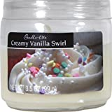 Candle-lite Essentials 3-1/2-Ounce Creamy Vanilla Swirl Jar Candle