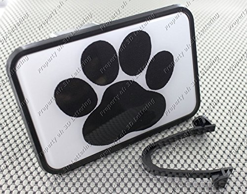 Paw Print Trailer Hitch Cover Sticker 3D (Temporary Trailer Hitch compare prices)
