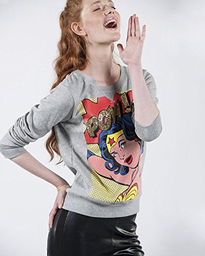 SilvianHeach Donna Felpa Alayna Manica Lunga Pullover Jumper Sweatshirt Grigio XS