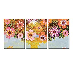 Elvoes Blooming Flowers Canvas Wall Art Beauty Floral Tree of Life Oil Painti...
