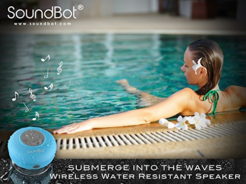 SoundBot® SB510 HD Water Resistant Bluetooth 3.0 Shower Speaker, Handsfree Portable Speakerphone with Built-in Mic, 6hrs of playtime, Control Buttons and Dedicated Suction Cup for Showers, Bathroom, Pool, Boat, Car, Beach, & Outdoor Use soundbot® sb510 hd water resistant bluetooth 3 0 shower speaker handsfree portable speakerphone with built in mic 6hrs of playtime control buttons and dedicated suction cup for showers bathroom pool boat car beach
