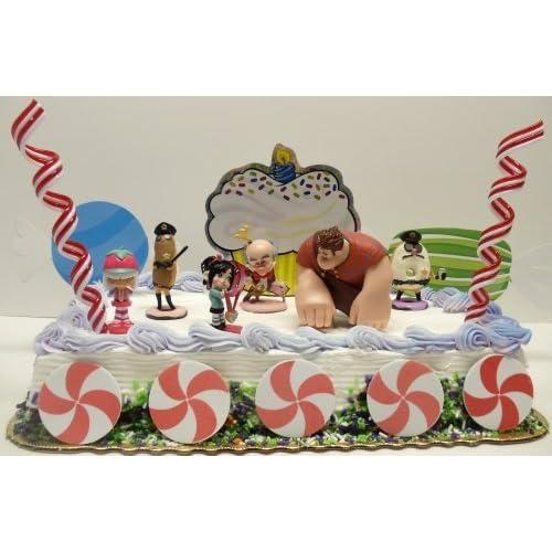 Topper Set Featuring Sugar Rush Candy, Ralph, The Glitch Vanellope Von