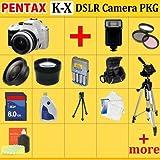 Pentax K-x Digital SLR Camera Kit (White) with