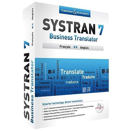 Systran 7 Business Translator Anglais/Francais/Anglais