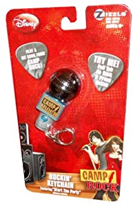 "Disney Camp Rock Microphone Shaped Rockin' Keychain with ""Start the Party"" Camp Rock Hit Song"
