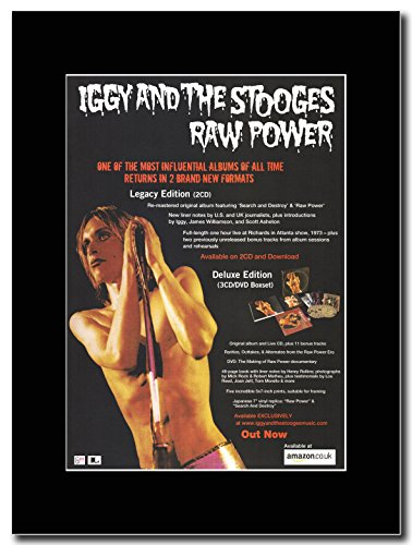 & Iggy Pop The Stooges, Raw Power Legacy Edition Magazine Promo su un supporto, colore: nero