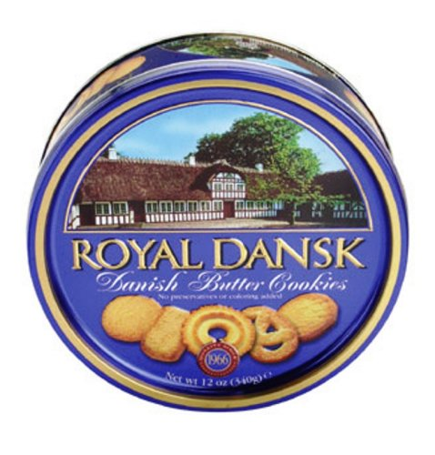 Royal Dansk Danish Butter Cookies, 12 Ounce Tins