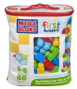 Mega Bloks Classic Buildable Bag (60 Pieces)