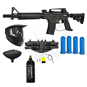 Buy Tippmann US Army Alpha Black Elite Tactical Paintball Gun Starter Package by US Army Paintball