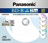 Panasonic ブルーレイディスク 日本製 録画用4倍速 25GB(単層 追記型) 10枚パック AromaII LM-BR25L10A