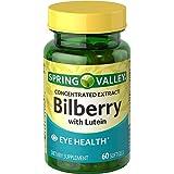 Spring Valley Softgels Bilberry, 60 Softgels