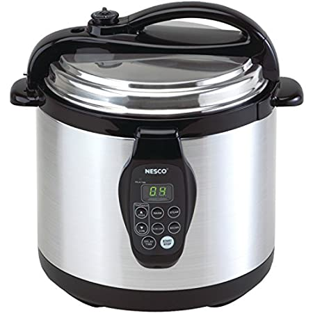3-in-1 Digital Electric Pressure Cooker  This Nesco Digital Programmable Electric Pressure Cooker has everything you need to make delicious meals fast. And they'll taste like they were slow cooked. It can pressure cook, slow cook, brown, steam a...