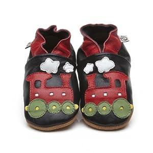 Suaves Zapatos De Cuero Del Bebé Tren 6-12 meses de Cherry Kids