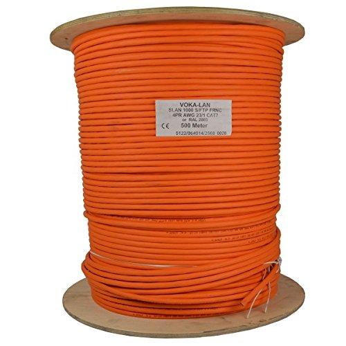 500m-Cat7-Kabel-Netzwerkkabel-Installationskabel-Verlegekabel-Cat7-Datenkabel-Orange-1000MHz-auf-Holz-Trommel-Made-in-Germany