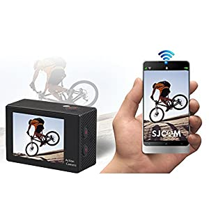 AKASO EK5000 1080p WIFI Sports Action Camera 12MP HD Waterproof Camcorder 2 Inch LCD Screen 170°Wide Angle Len W/ 2 Rechargeable Batteries & 19 Mounting Kits