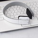 Bq618 White Bluetooth Headphones - Built in Microphone - High Quality Sound - Perfect Fit Sleek Design