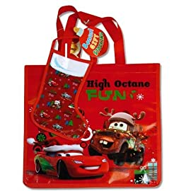 Disney Cars Christmas 3 in 1 Tote Bag Gift Set