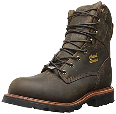 Chippewa Men's 8 Inch Bay Apache Steel Toe Rugged Boot,Brown,6 E US