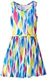 The Childrens Place Big Girls Knit Printed Skater Dress with Belt